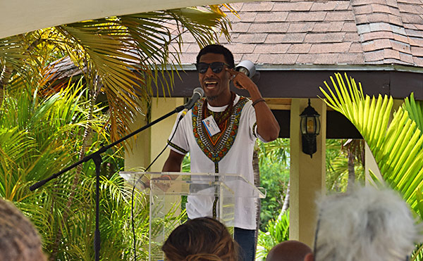 adrian green presentation at lit fest anguilla