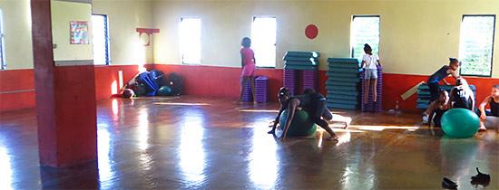 aerobics room in anguilla
