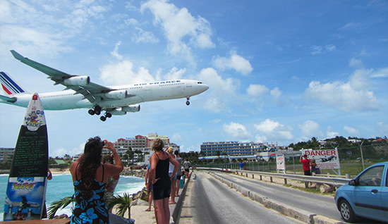 air france landing princess juliana airport