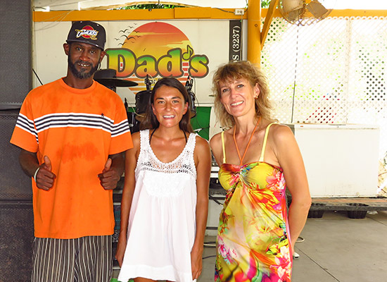 with alex and chef tola of dads bar and grill