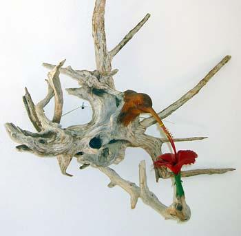 Anguilla Art  Cheddie Richardson - Hummingbird