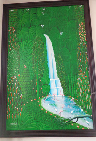 Anguilla art gallery, Pineapple Gallery, HR Bresil, Haitian art
