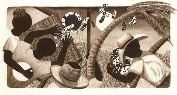 Anguilla Art - Lynne Bernbaum - Domino Tones 4