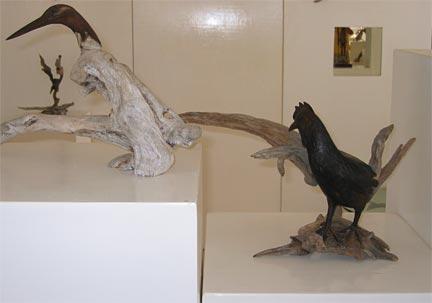 Anguilla sculputre - chicken and bird