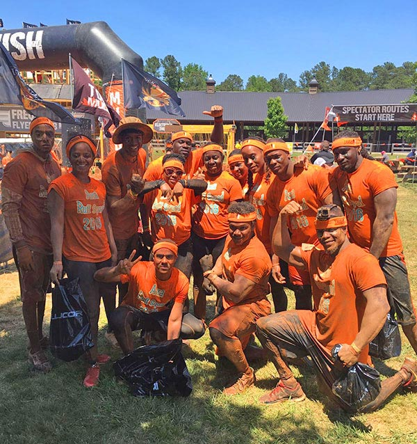 job well done team at tough mudder