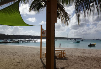 Anguilla beach bars dads bar and grill