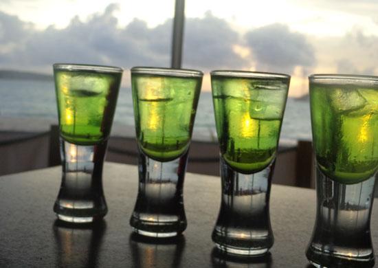 Dolce Vita, Italian, shots, Anguilla beach restaurant