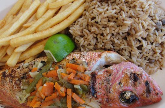 whole snapper, Johnnos, Anguilla beach restaurants, live jazz