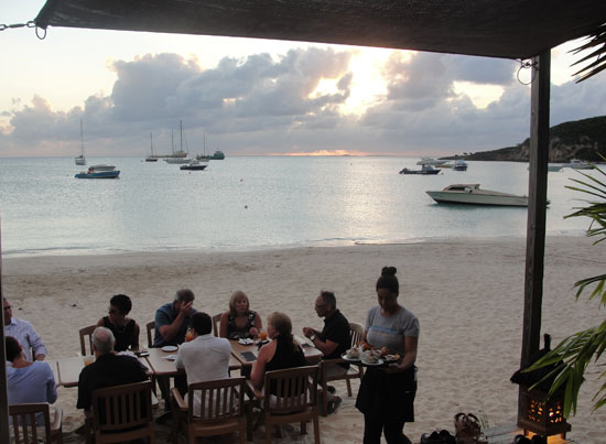 SandBar, Sandy Ground, tapas, Anguilla beach restaurant
