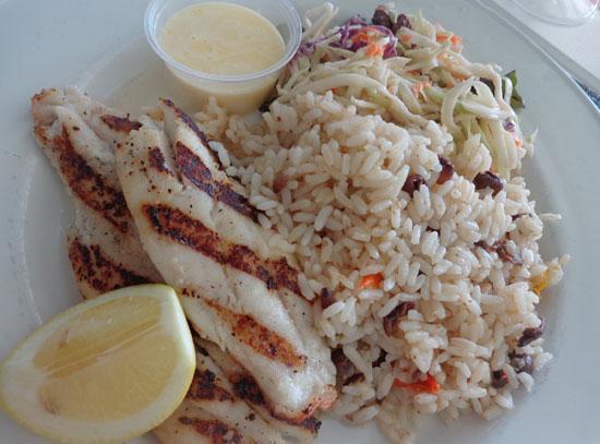 smokey's restaurant, anguilla beach restaurants, grilled snapper