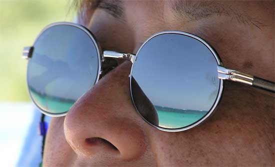 Reflection of Anguilla Beach