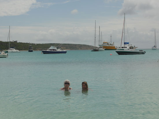 Anguilla beaches, Sandy Ground, boats, water