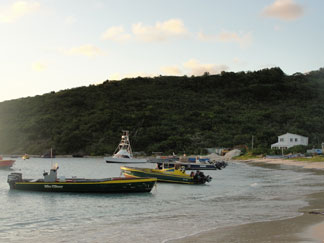 Anguilla beaches, Sandy Ground, fishing boats