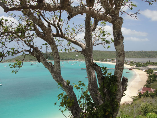 Anguilla beaches, Sandy Ground, Back Street, overlook