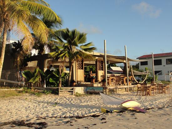 Anguilla beaches, Sandy Ground, SandBar tapas restaurant