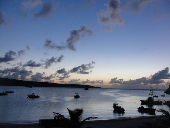 Anguilla beaches, Sandy Ground, sunset, Elvis