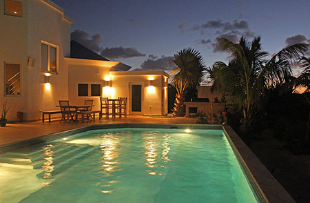anguilla beaches villa by night