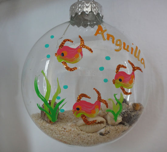handpainted ornaments at seaspray