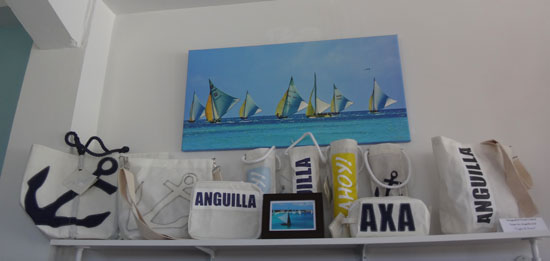 sail tote bags made with anguilla sailboat sails