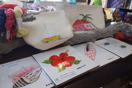 zazaa handpainted trivets and clutches