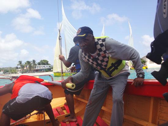 captain of anguilla sail boat Captain Ivan Ghost Hughes
