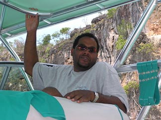 Cpt. of the Seagrape Anguilla boat tours - Shaun Webster