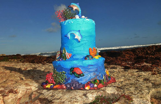 sea inspired cake made by cake divas