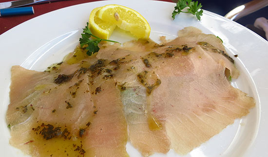 elite tuna carpaccio
