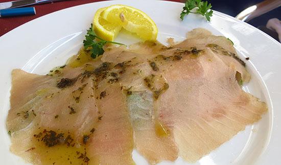 elite tuna carpaccio