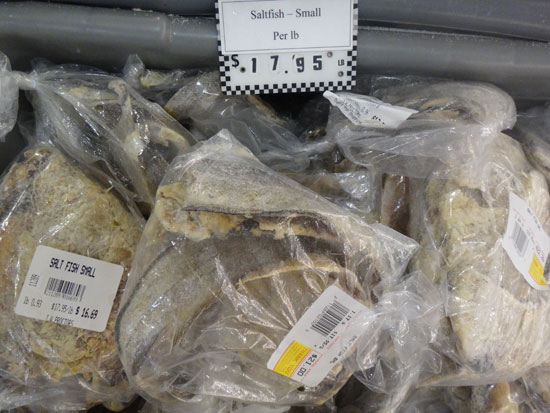 saltfish from anguilla's JW Proctor's grocery