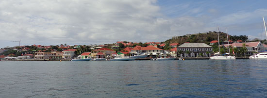 arriving in gustavia st. barths