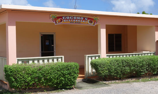 coconos restaurant in anguilla's blowing point