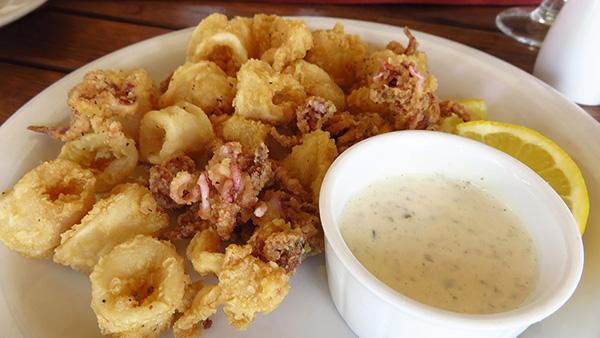 Anguilla dining, Elite Restaurant, Island Harbour, calamari