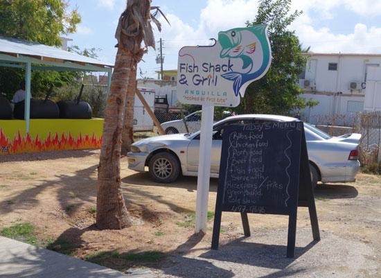 parking at fish shack and grill