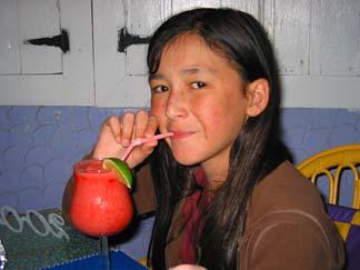 Anguilla dining Yuki sipping