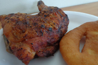 Anguilla dining, Valley BBQ, roadside, chicken, ribs, johnny cakes
