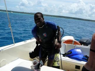 Anguilla diving, wreck, Katlhlee H, divemaster, Douglas Carty