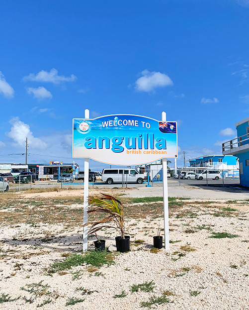 anguilla ferry terminal sign