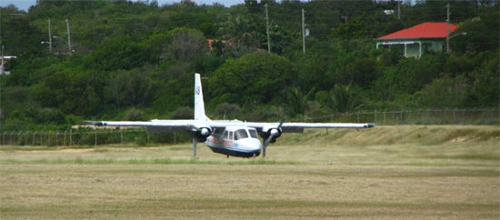 flight to anguilla landing