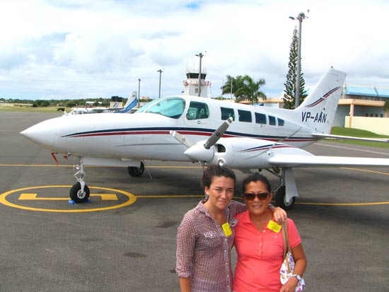anguilla flights on tarmac