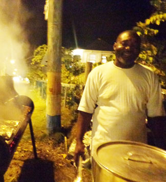 Anguilla food, Anguilla BBQ, roadside BBQ, Kenny's, Sandy Ground, tent