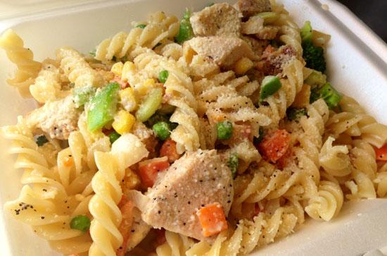 chicken pasta at slyco