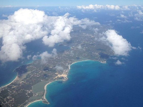 aerial photo of anguilla