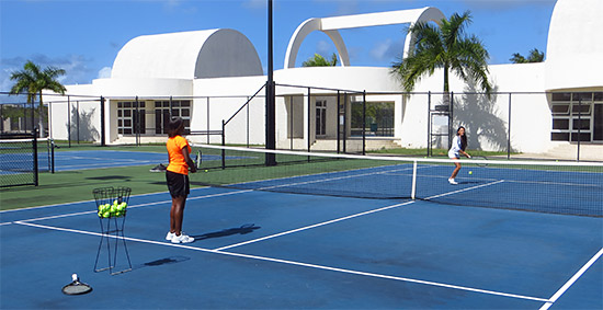 on the tennis court anguilla tennis academy