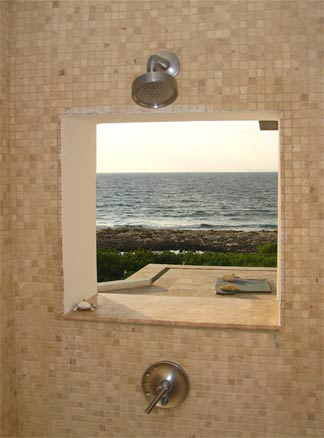 anguilla outdoor shower caribbean tile