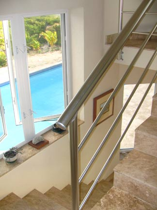 caribbean stairs of our anguilla home
