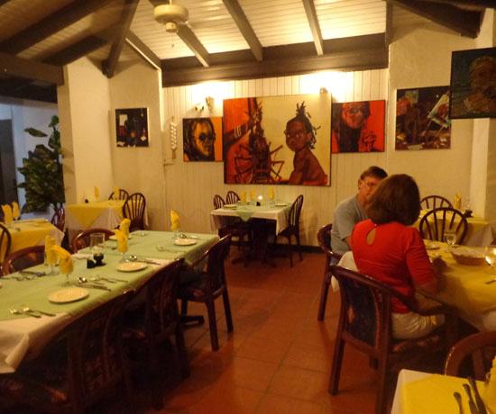 Anguilla hotels, Allamanda Beach Club, Anguilla restaurants, Zara's, dining room