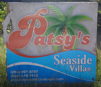 patsys seaside villas sign