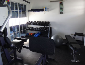 gym at shoal bay villas