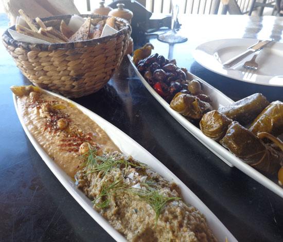 Anguilla hotels, Anguilla restaurants, Half Shell, Viceroy, meditteranean food, mezze platter, hummus